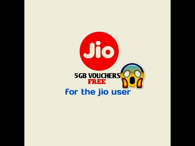 jio free 5GB vouchers for all
