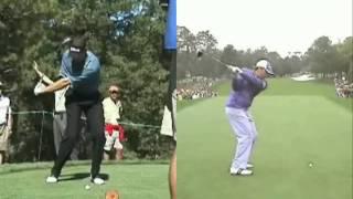 Sergio Garcia - Lagging the golf club
