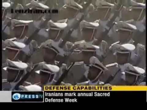 Military parade of Islamic Revolutionary Guard and Basij in Tehran - Iran 22 Sept. 2010