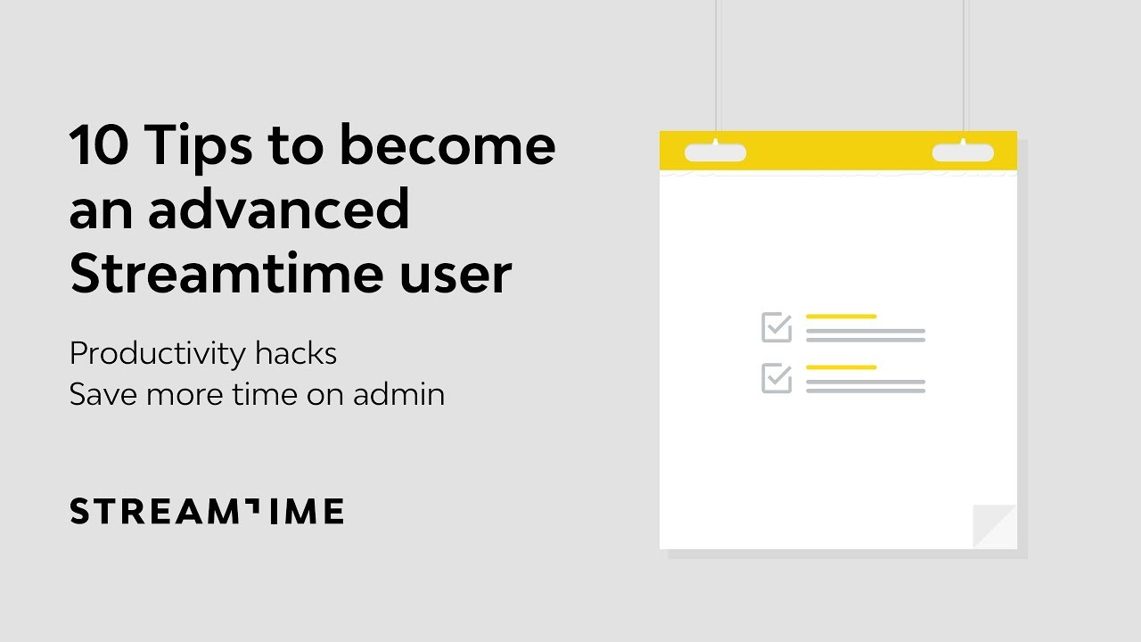 Download 10 Tips to Become and Advanced Streamtime User