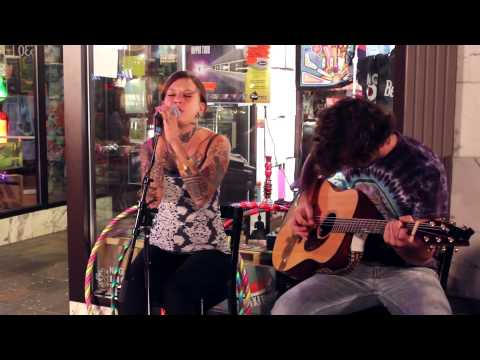 Stephanie Takata & Sam Ball -Royals Lorde Cover -Live at Farmers Market