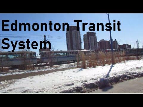 LRT Passes Stadium LRT Station - Edmonton, AB