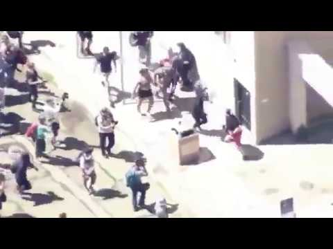 White Man Assaulted by Pack of AntiFa Fags at Berkeley