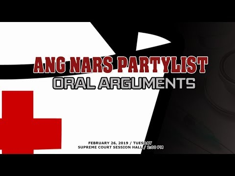 Ang Nars Partylist Oral Arguments
