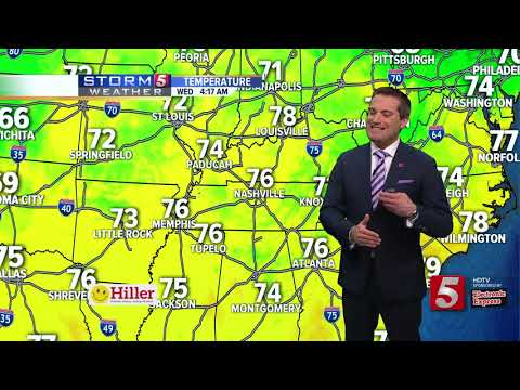 Henry's Early Morning Forecast: Wednesday, June 12, 2018