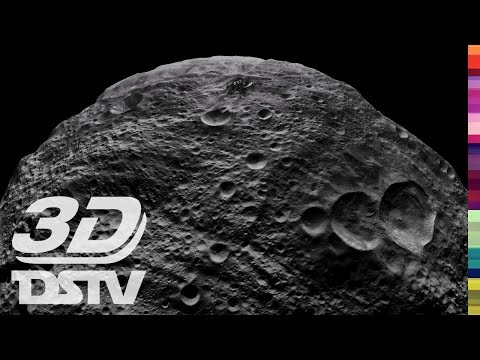 WATCH ASTEROID VESTA CLOSE UP IN 3D