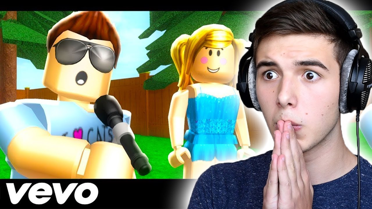 Falling For You Roblox Music Video By Denis Reaction - reacting to roblox music videos 13