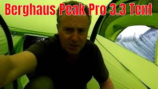 Snapshot of the Berghaus Peak Pro 3.3 Tent