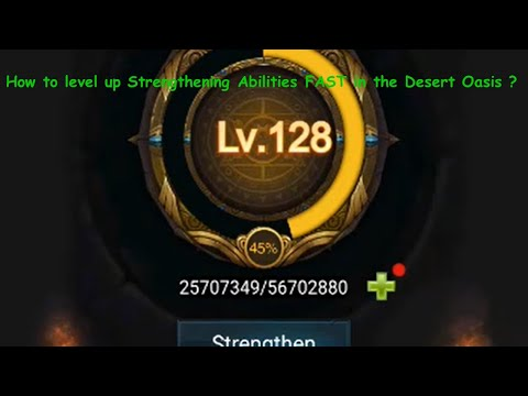 How To Level Up Strengthen Abilities Fast In Desert Oasis Building Abilities Last Empire War Z
