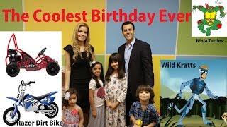 Ninja Turtles, Wild Kratts, Car Race, Dirt Bike Birthday