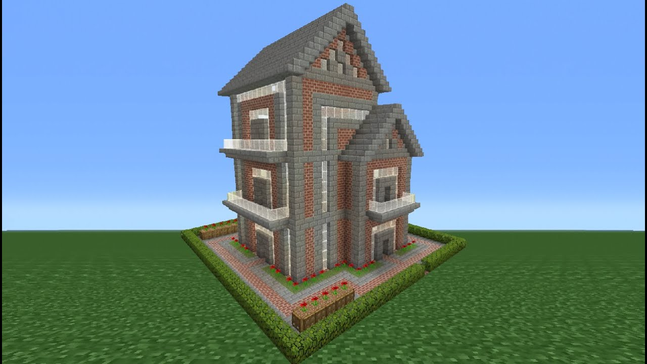 Minecraft Tutorial  How To Make A Brick House - 12