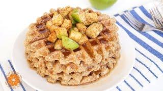 Cinnamon Apple Waffles | Healthy Fall & Back To School Breakfast Ideas | Healthy Grocery Girl