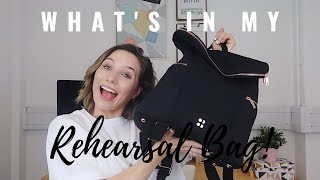 WHAT'S IN MY REHEARSAL BAG! | STARTING A NEW JOB | Georgie Ashford