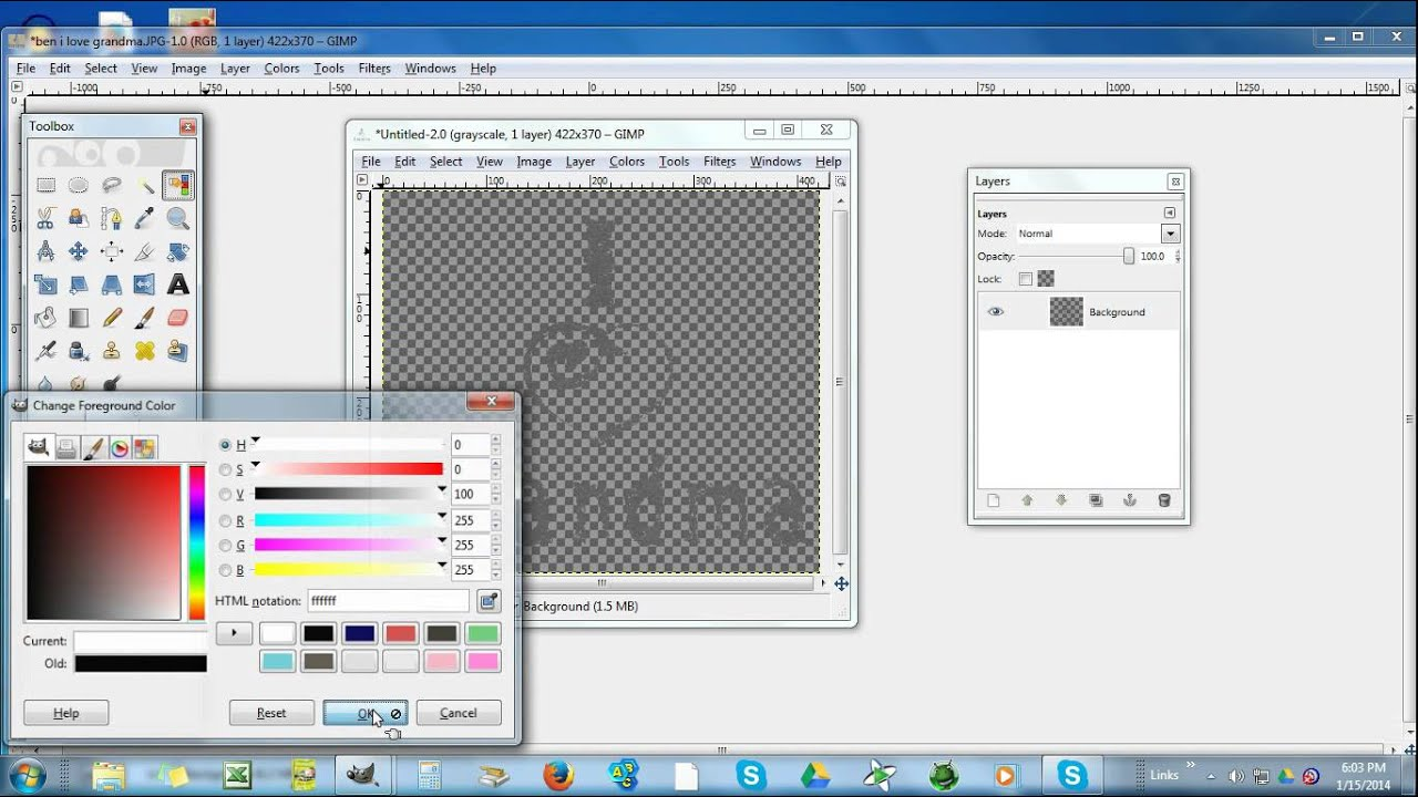 how to edit photos in gimp 2.6