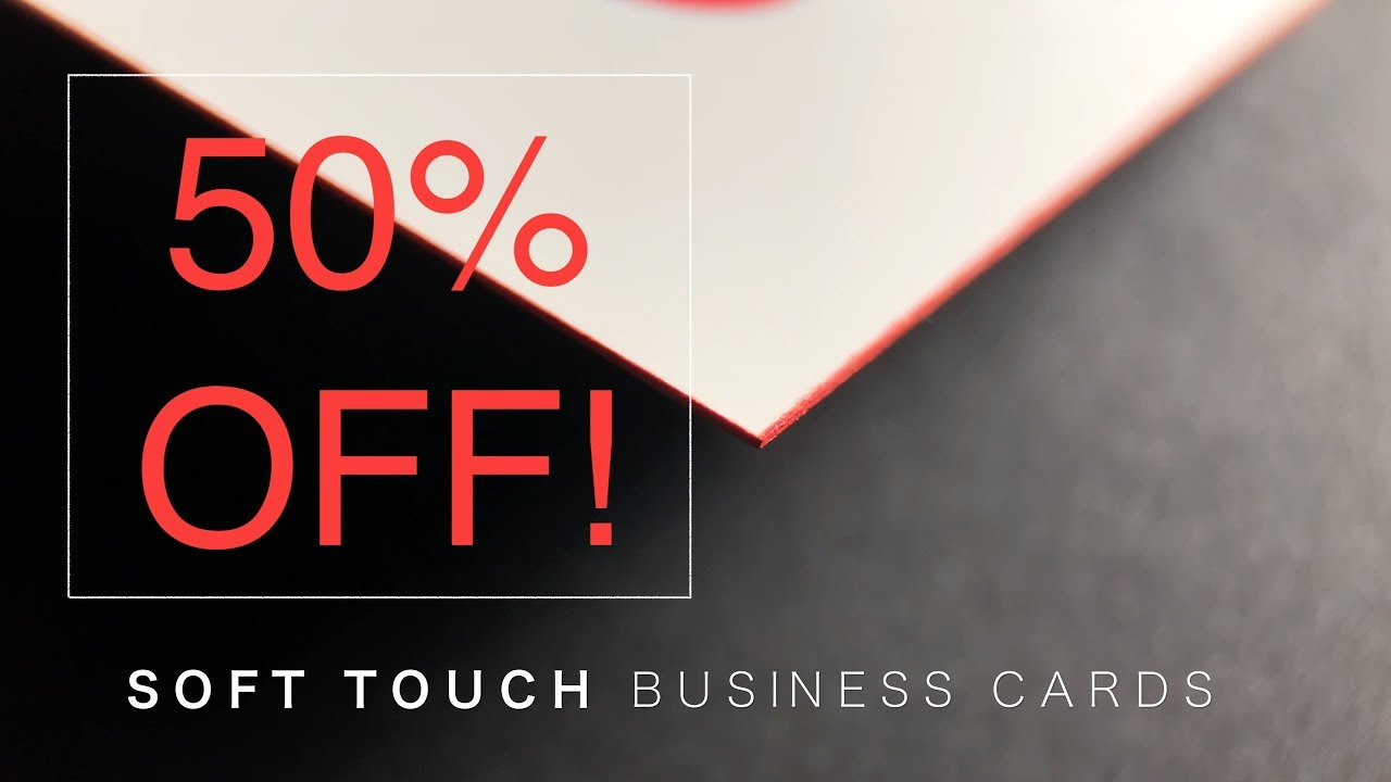 50% OFF! Soft Laminate Business Cards - YouTube