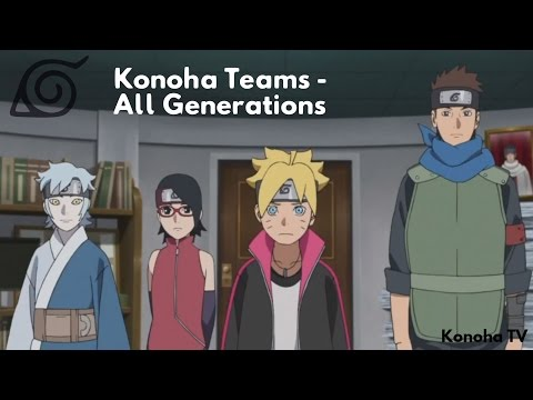 "Konoha Teams - All Generations (Update: Team 2 ""Itachi Uchiha"")"