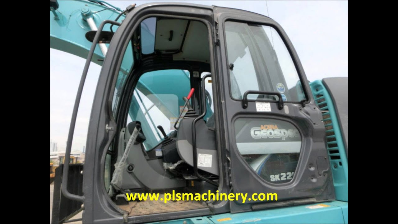 2012YEAR KOBELCO SK225SR-2 HYDRAULIC EXCAVATOR FOR RENTAL IN SINGAPORE WITH  GRAPPLE & LOAD INDICATOR