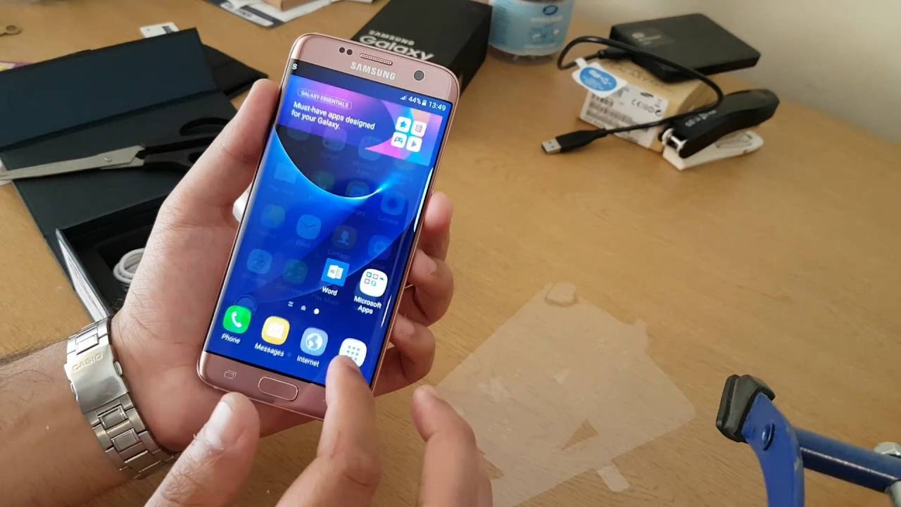 samsung galaxy s7 edge unboxing vodafone uk pink gold   youtube