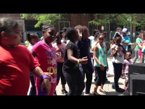 The girls at my school dancing at the david a ellis elementary school
