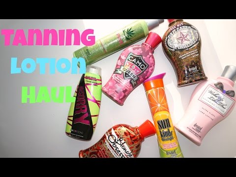 Tanning Lotion Haul! || Best Tanning Lotions