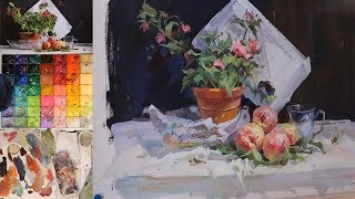 How to paint Still life in Gouache