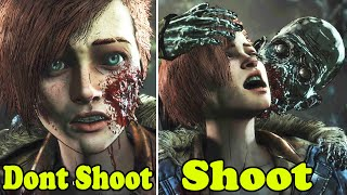 Clem Shoot vs Don't Shoot Minnie - All Choices - The walking Dead The Final Season Episode 4