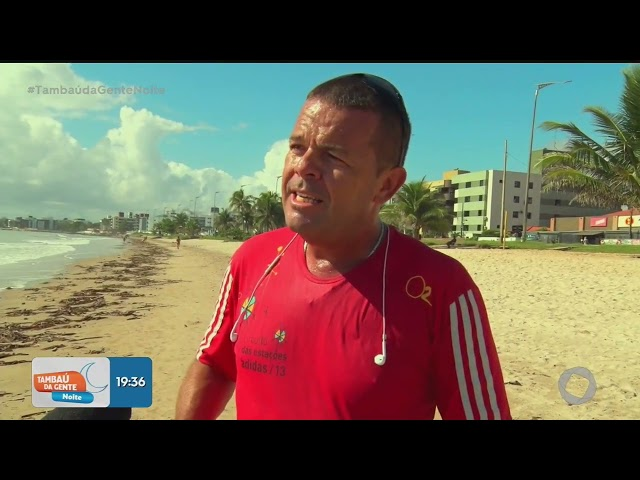Lixo causa espanto e transtornos na praia do bessa - Tambaú da Gente Noite