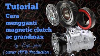 Cara mengganti magnetic clutch/MGC kompresor ac daihatsu gran max