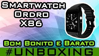 Relógio Smartphone Android 4.4 Ordro X86 3G Smartwatch Gps Mp3 Wifi Play Store #41 Unboxing gearbest