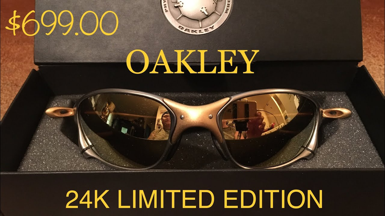 40695c8a25a ... best price oakley juliets 24k x metal titanium sunglasses limited  edition very rare 8288d b7da7