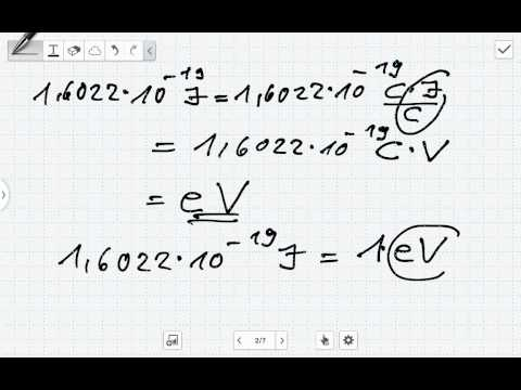 umrechnung elektronenvolt