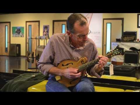 Carter Vintage Guitars - Adam Steffey and a Koa Elkhorn Mandolin