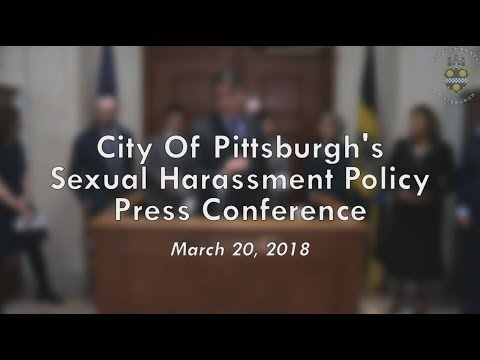 City of Pittsburgh Sexual Harassment Policy Press Conference - 3/20/18