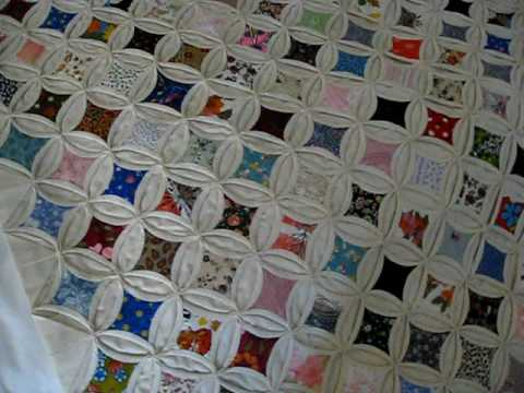 Cathedral Window Quilt: Granny Visit