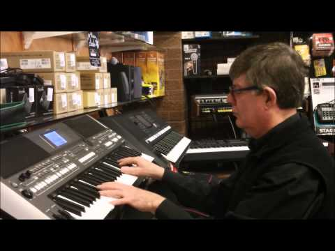 The Yamaha PSRS670 Organ and orchestral sounds