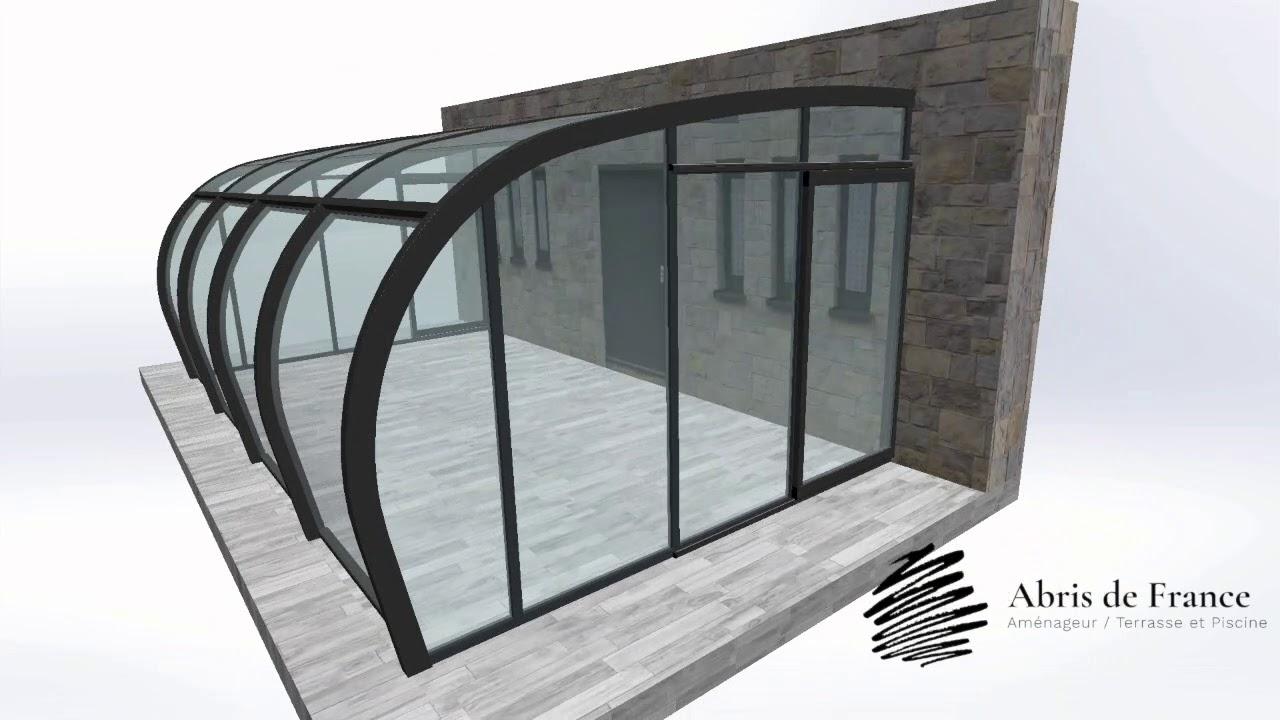 Abri Terrasse Style Véranda Video De Fonctionnement