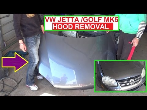 How to Remove or Replace the Hood on VW Jetta MK5 A5 or VW GOLF MK5