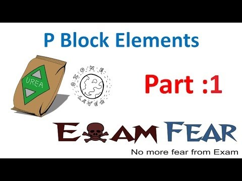 Chemistry P Block part 1 (Introduction to group 15, 16, 17, 18) CBSE class 12 XII