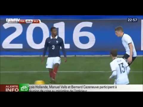 Взрыв во время матча: Франция — Германия ПЕРВОЕ ВИДЕО со стадиона