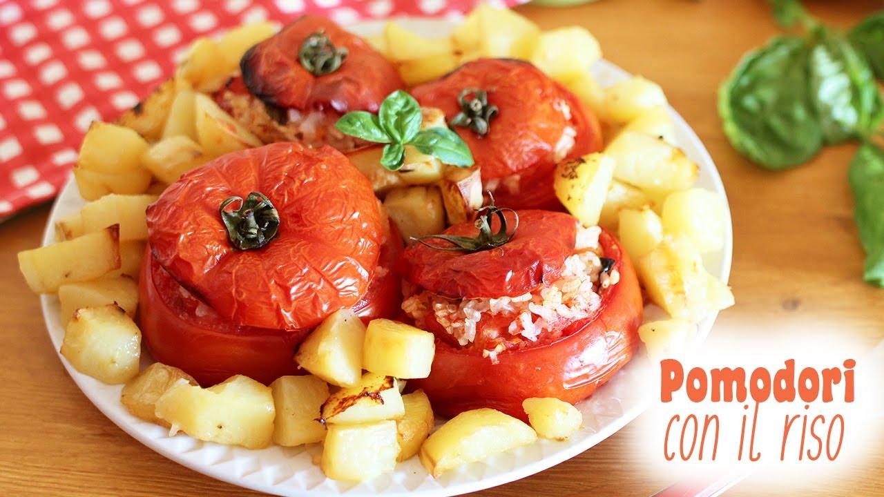 Pomodori con il riso ricetta estiva veloce e leggera for Sinonimo di veloce