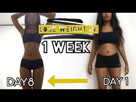 HOW I LOST 15 POUNDS IN ONE WEEK | Lose weight fast Diet Journey