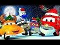 مسلسل عيد الميلاد  مدينة السيارات تحتفل بعيد الميلاد كرتون عيد الميلاد للأطفال