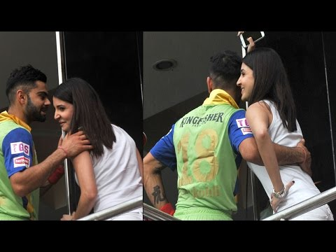 Anushka & Virat Romance Inside Cricket Stadium – Must Watch