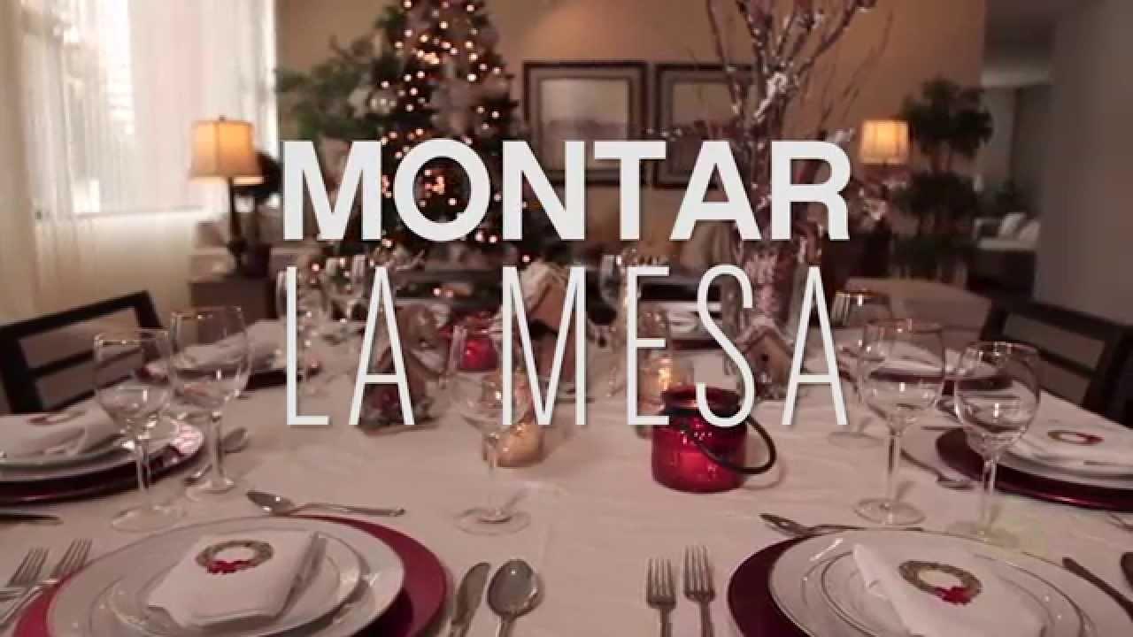 C mo montar la mesa navide a youtube for Como poner una mesa bonita