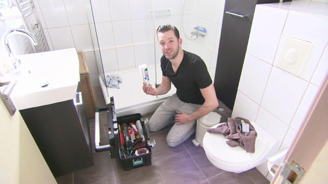 Kit verwijderen in de badkamer - Klussen met Oscar - YouTube
