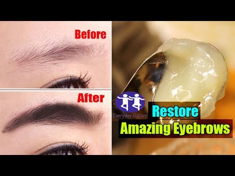 real restore amazing EYEbrows with just 2 simple ingredints | Grow Long Eyebrows | Thicker Eyebrows