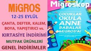 Mİgros 12 - 25 EylÜl 2019 İndİrİmlerİ / Mİgros Çanta, Defter, Kalem İndİrİmlerİ