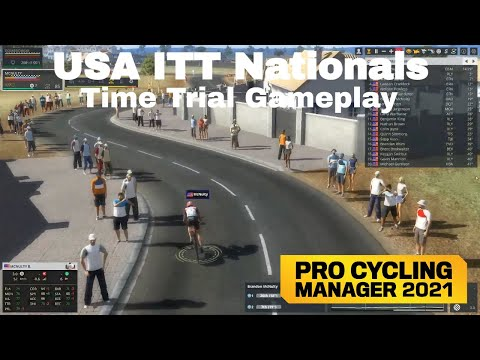 Pro Cycling Manager 2021 Time Trial Gameplay - USA ITT National Championships with Brandon McNulty |