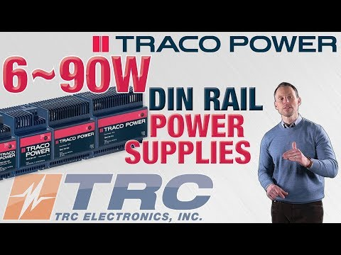 TRACO Power TBLC DIN Rail Power Supplies From TRC Electronics