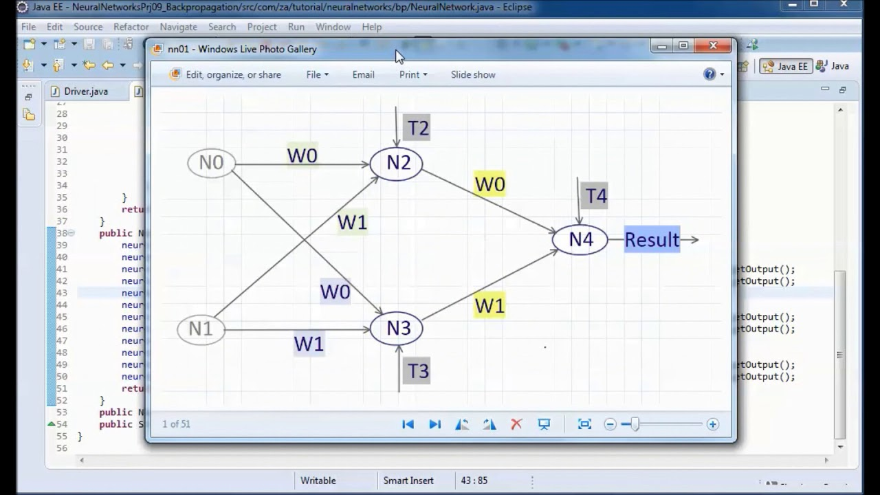 Neural Networks w/ JAVA (Backpropagation 01) - Tutorial 09